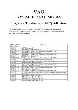 vag(audi/seat/skoda/vw) p0734