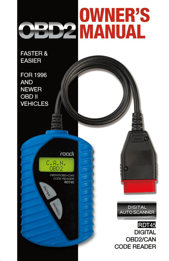 RDT45 User Manual - Roadi Diagnostic Tools