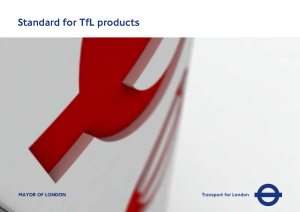 Standard For TfL Products