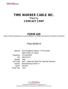 time warner cable inc. - Nasdaq Corporate Solutions