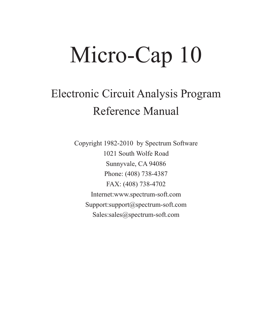 Micro Cap 10 Reference Manual 62 Adder Block Diagram The Abbreviation Fa Stands For Fulladder