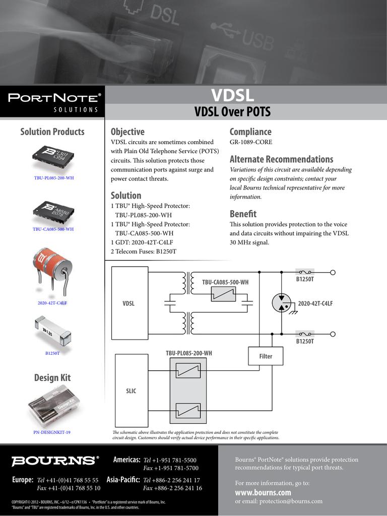 Vdsl Over Pots Rapid Electronics Wiring Diagram