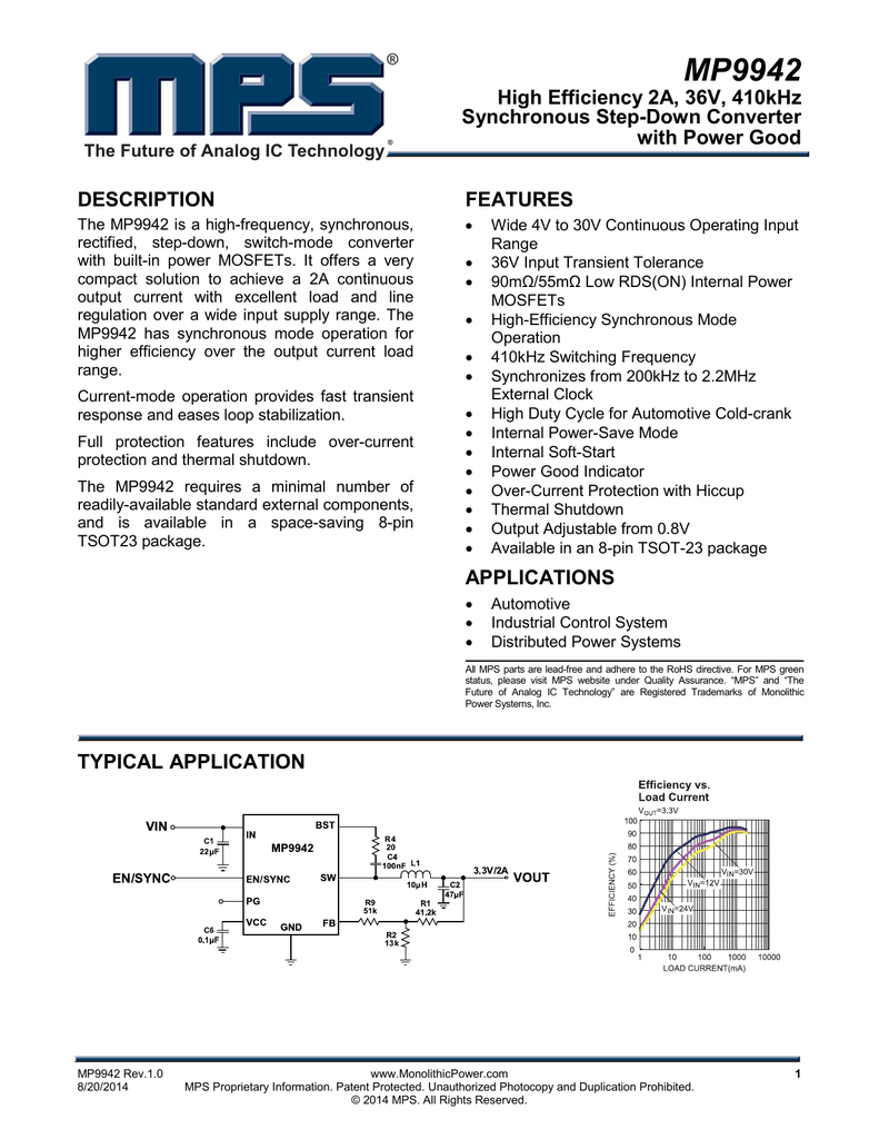 mp9942 monolithic power system