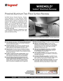 4000 Designer Series Aluminum Raceway Product Specifications