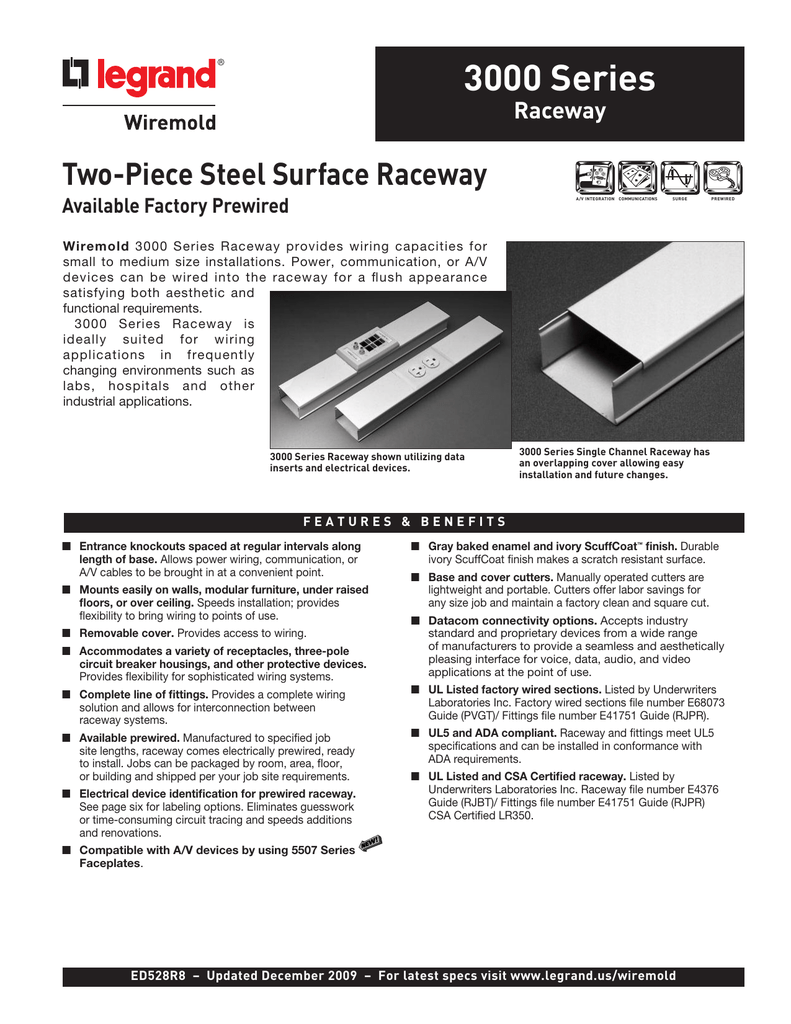 3000 Series Raceway Product Specification