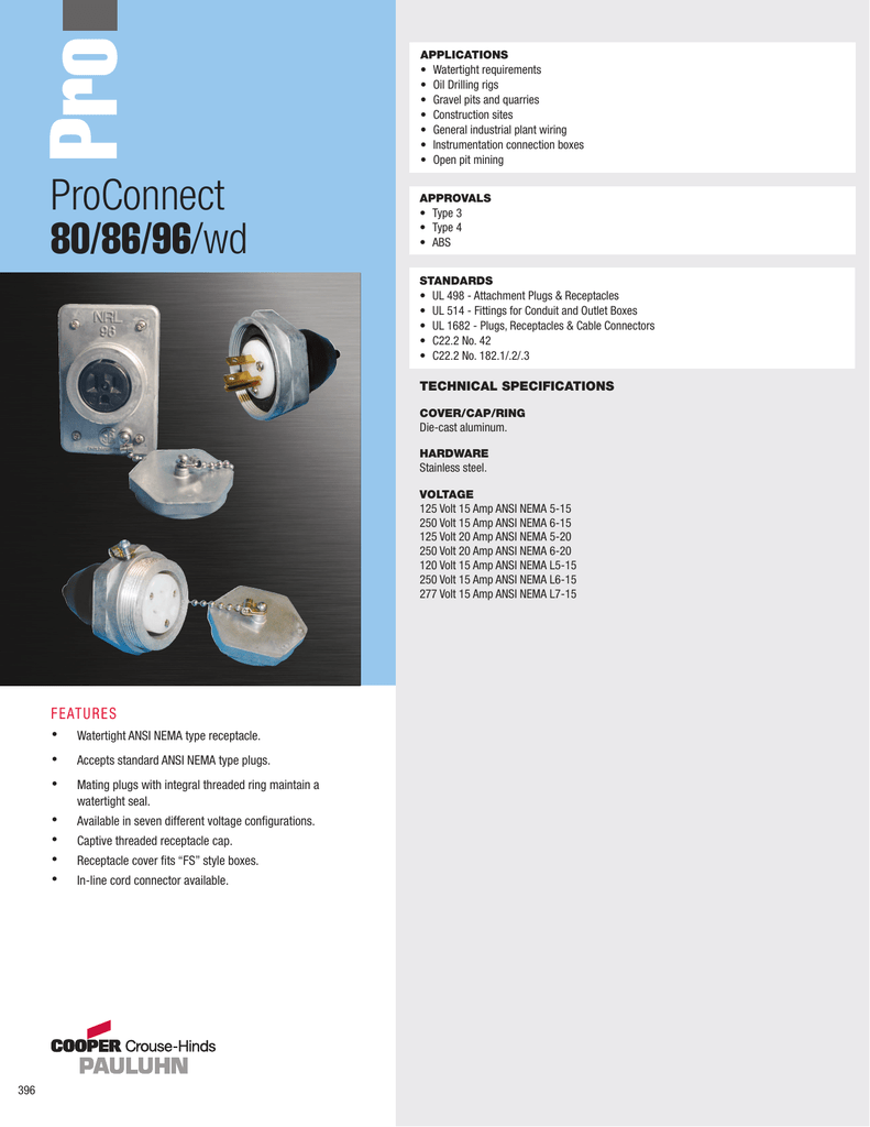 Proconnect 80 86 96 Wd Crouse Wiring 4 Receptacles