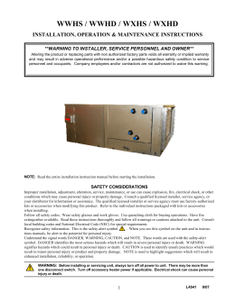 IOM - Double Wall Air Handler
