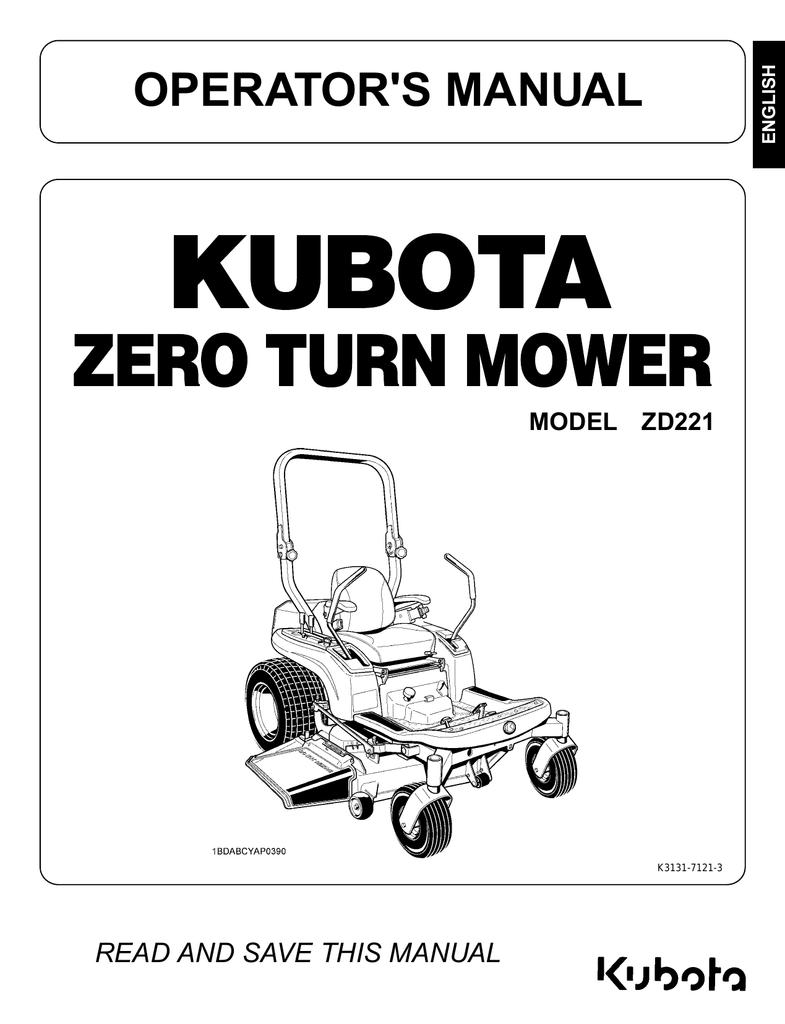 ZD221-54 Operator Manual
