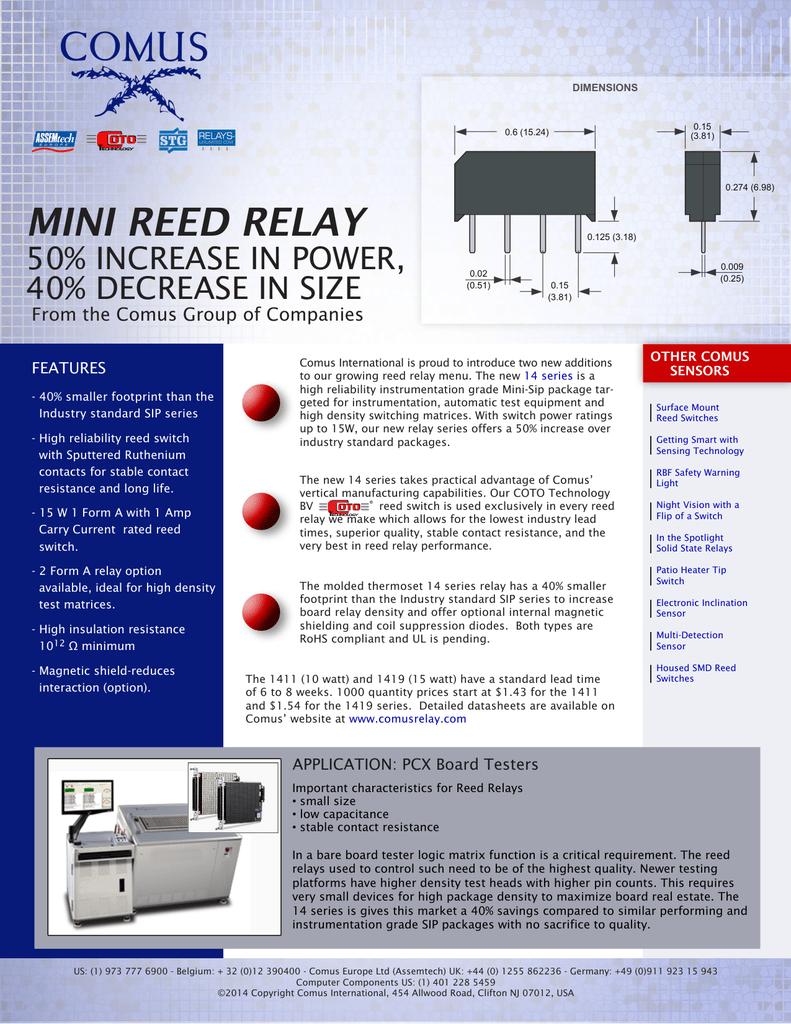Mini Reed Relay Series 30 Sip Circuit