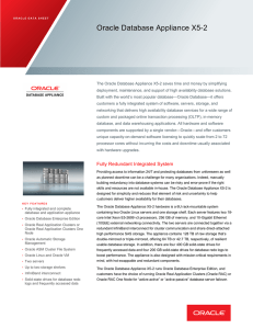 Oracle Database Appliance X5