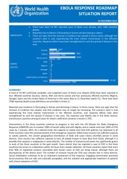 ebola response roadmap situation report