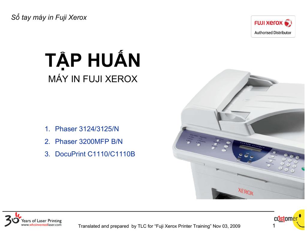 Sổ tay máy in Fuji Xerox