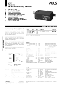 DP277.102 - PULS Power Supply