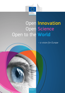 Open Innovation Open Science Open to the World