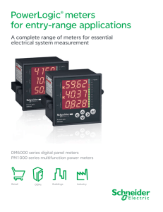 PowerLogic® meters for entry