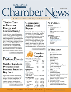 October 2013 Newsletter - Kalispell Chamber of Commerce