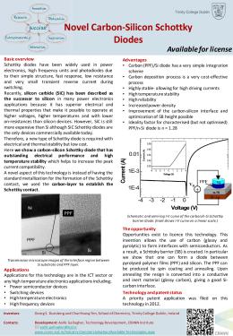 Novel Carbon-Silicon Schottky Diodes