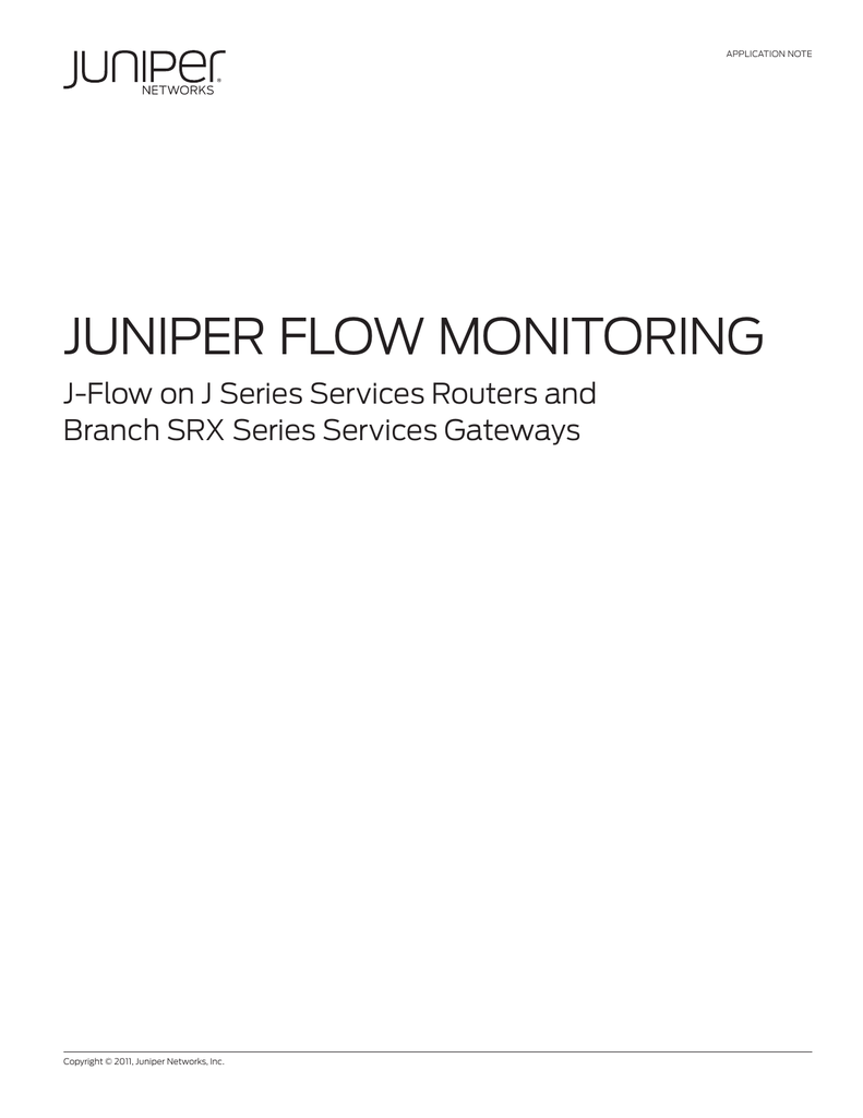 JFlow - Juniper Networks