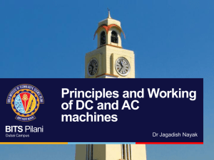 Principles and Working of DC and AC machines