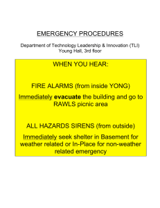 EMERGENCY PROCEDURES WHEN YOU HEAR: FIRE ALARMS