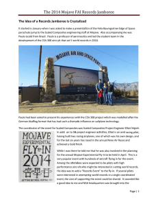 The 2014 Mojave FAI Records Jamboree