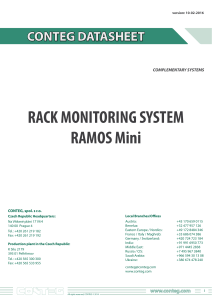 RACK MONITORING SYSTEM RAMOS Mini