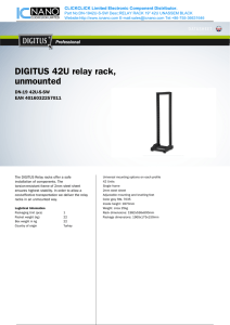 DIGITUS 42U relay rack, unmounted