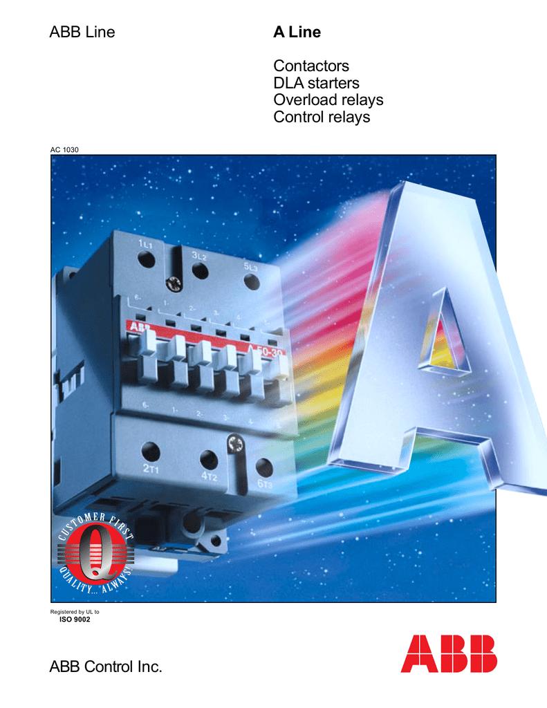 [DIAGRAM_5NL]  ABB Control Inc. A Line Contactors DLA starters Overload relays | Abb 145 30 Contactor Wiring Diagram |  | StudyLib