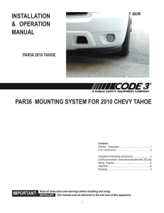 Installation Guide for 2010 Tahoe