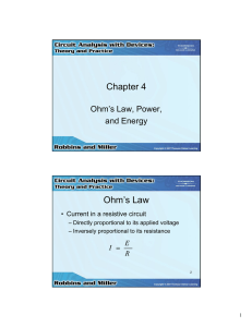 Chapter 4 Ohm s Law