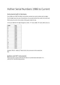 serial number list