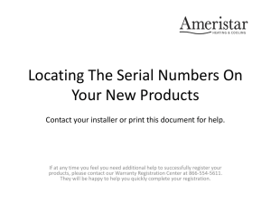 Need help finding model or serial numbers?