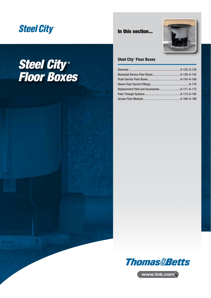 STEEL CITY BRASS FLOOR BOX RECEPTACLE COVER P64DS