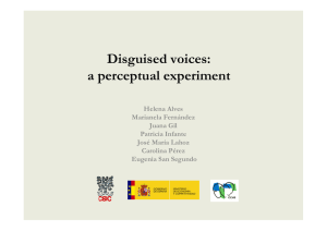 Disguised voices: a perceptual experiment