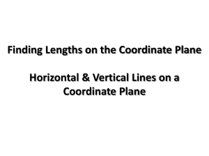 Finding Lengths of Horizontal and Vertical Lines on a Coordinate