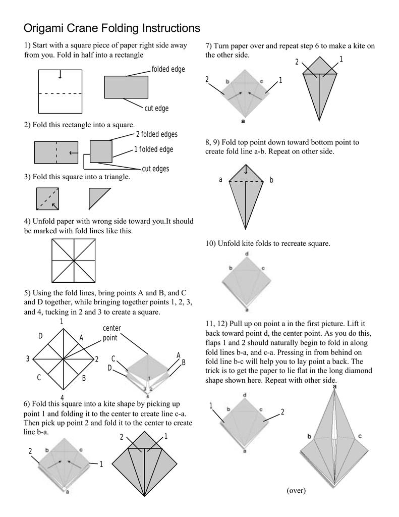 Origami Crane Folding Instructions