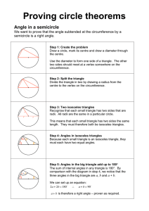 Proving circle theorems - Benjamin