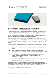 THIRD PARTY INTELLECTUAL PROPERTY