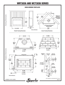 Specification Sheet - WRT/WCT3036 Wood