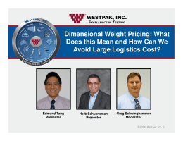 Dimensional Weight Pricing