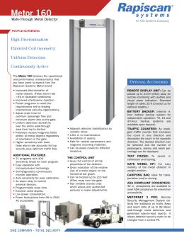 high sensitivity walk through metal detector rh studylib net Garrett Metal Detectors Manuals Bounty Metal Detectors