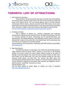 list of attractions and transportation options