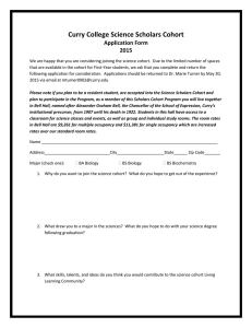 Curry College Science Scholars Cohort Application Form 2015