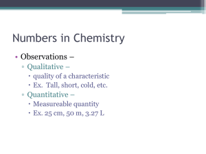 Numbers in Chemistry