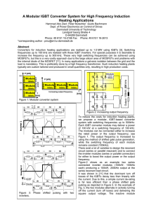 A Modular IGBT Converter System for High Frequency Induction