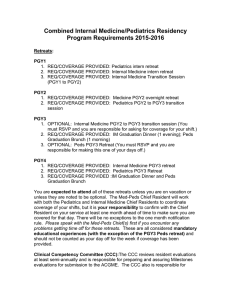 2015-16 Med-Peds Residency Program requirements