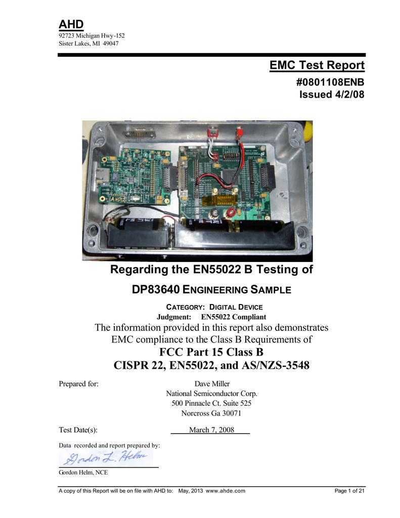 EMC Test Report - Texas Instruments