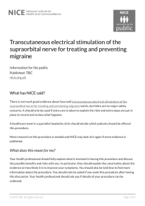 Transcutaneous electrical stimulation of the anscutaneous electrical