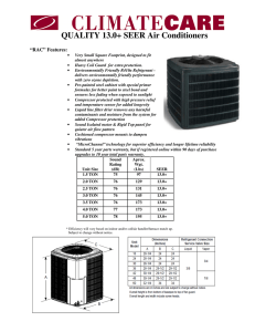 QUALITY 13.0+ SEER Air Conditioners