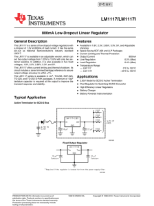 LM1117/LM1117I 800mA Low-Dropout Linear Regulator (Rev. L)